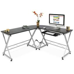 New Modular 3-Piece L-Shape Computer Desk PC Stand Workstati