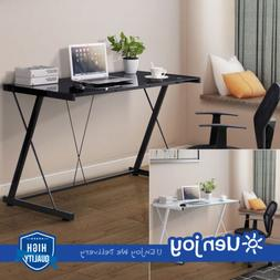 New PC Laptop Glass Table Computer Desk Workstation Office H