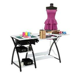 New Sewing Craft Table Folding Computer Desk Adjustable Plat