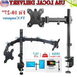 New Single /Dual Arm Monitor Desk Mount Computer TV Screen B