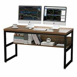 Oak Brown Office Gaming Work Station Computer Desk 55 inch w
