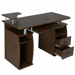 Office Computer Desk With Monitor and Printer Shelf