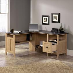 Office Desk L Shaped Corner Computer Desks With Storage Wood
