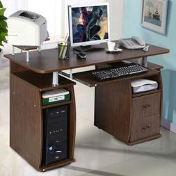 Office PC Computer Desk With Monitor and Printer Shelf Work