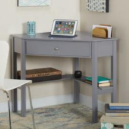 Porch & Den Grey Corner Desk Computer Office Furniture Table
