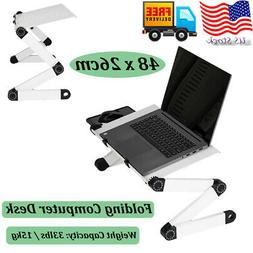 Portable Laptop Stand Desk Table Tray Bed Adjustable Noteboo