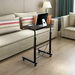 Portable Office Laptop Desk Rolling Adjustable Table Cart Co