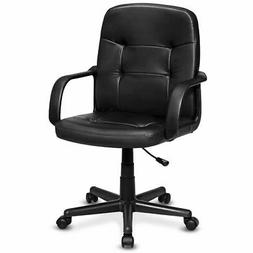 Ergonomic Mid-Back Executive Office Chair Swivel Computer De