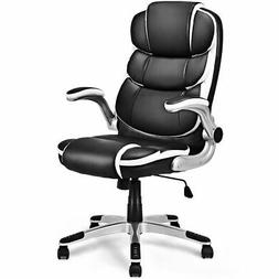 PU Leather High Back Executive Office Chair Swivel Desk Task