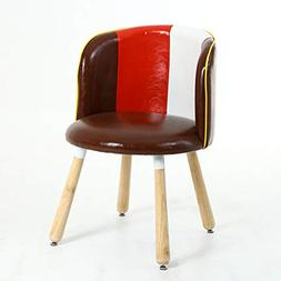 C.K.H. PU Simple Modern Solid Wood Chair Desk Dining Chair L