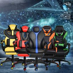 Racing Gaming Office Chair Ergonomic Computer Desk Task Leat