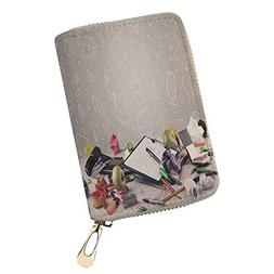 RFID Blocking Leather Wallet desk with laptop tab Genuine Le