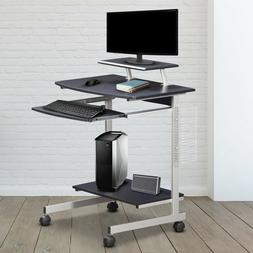 Techni Mobili Rolling Compact Computer Cart Desk With Storag