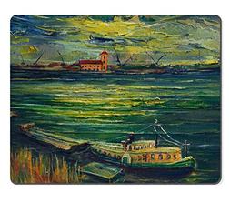 MSD Natural Rubber Mousepad An oil painting on canvas of a c
