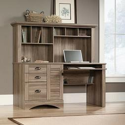 Sauder 415109 Salt Oak Finish Harbor View Computer Desk with