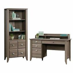 Shoal Creek 2 Piece Computer Desk and 3 Shelf 2 Door Bookcas