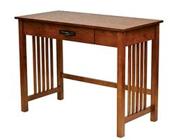 Sierra Writing Desk in Oak FInish with Pull out Drawer and S