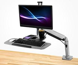 Mount-It! Sit Stand Workstation for Single Monitor and Keybo