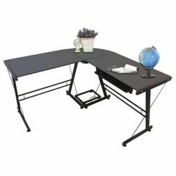 BNIB HLC L Shaped Computer Desk with Pull-Out Keyboard Shelf