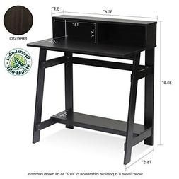 Small Modern Computer Desk Espresso Practical Simple Writing