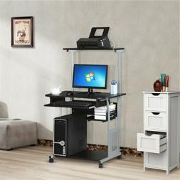 Small Rolling Computer Desk Study Writing Work Table Printer