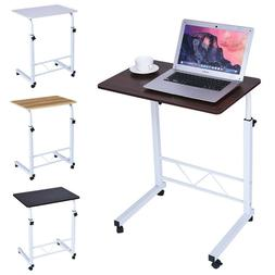 Small Rolling Computer Desk Workstation Wheel Laptop PC Tabl