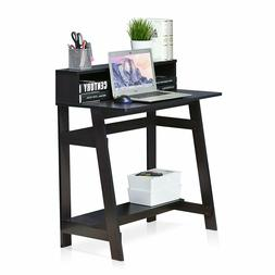 Small Student Desk Streaming Gaming Computer Shelf Storage Space Saving Table