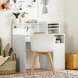 South Shore Crea Craft Table with Hutch Pure White N/A