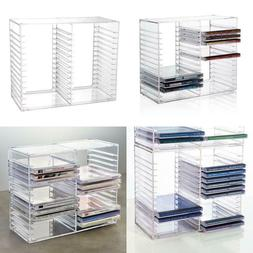 Stackable Clear Plastic Cd Holder - Holds 30 Standard Cd Jew