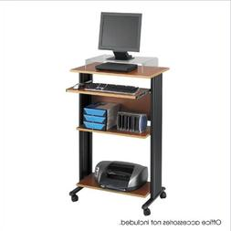 28W Standing Fixed Height PC Cart - Cherry