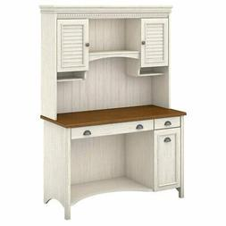 Bush Furniture Stanford Computer Desk with Hutch and Drawers