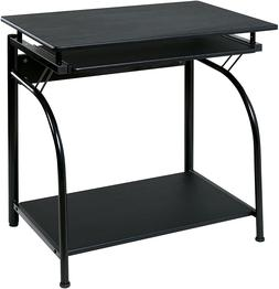 OneSpace Stanton Computer Desk with Pullout Keyboard Tray Bl