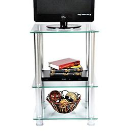 RTA Home and Office TVM-005 20 inch Extra Tall Glass and Alu