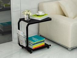 U-Shaped Side Table Portable Snack Cart Tray computer Standi