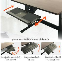 Under-Desk Computer Keyboard Tray Holder Mount,Height Angle