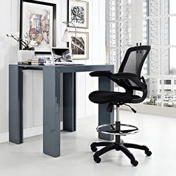 Veer Drafting Stool, Black