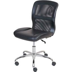 Mainstays Vinyl and Mesh Task Chair Multiple Colors Black/Bl
