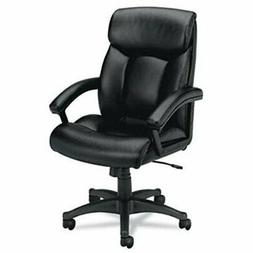VL151 Series Executive High-Back Chair, Black Leather