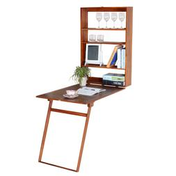 Wall mount computer desk Folding wooden writing table waterp