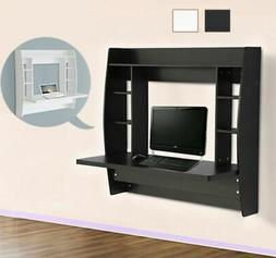 Wall Mount Floating Folding Computer Desk Home Office PC Tab