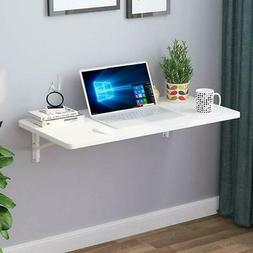 Wall Mount Floating Folding Computer Desk For Home Office PC