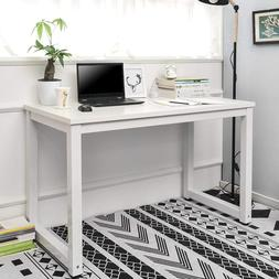White Computer Desk Study PC Laptop Table Office Home Workst
