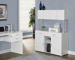 Monarch Specialties White Hollow-Core Office Storage Credenz