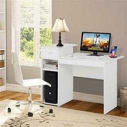 White Small Computer Home Office Desk Laptop Table W/ Durabl