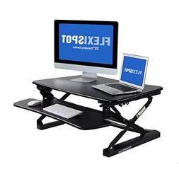 "Wide Platform Height Adjustable Standing Desk 35"" Office Wor"