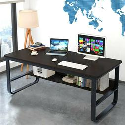 Wood Computer Desk PC Laptop Table Workstation Home Office S