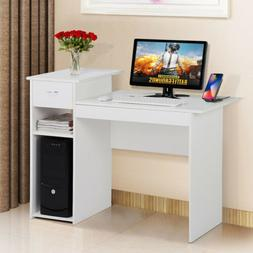Wood Computer Study Writing Desk PC Laptop Table Small Space