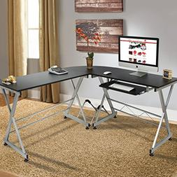 Best Choice Products Wood L-Shape Corner Computer Desk PC La