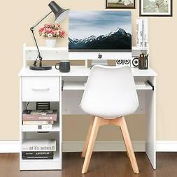 Wood PC Writing Desk Home Office Computer Desk with Drawers