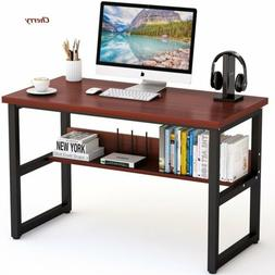 Simple Modern Computer Writing Desk with Bookshelf for Home